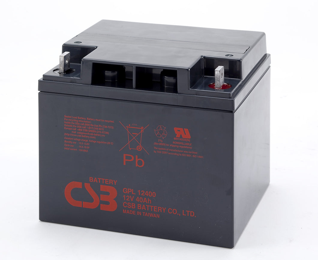 CSB GPL12400 12V 40Ah Long Life Battery