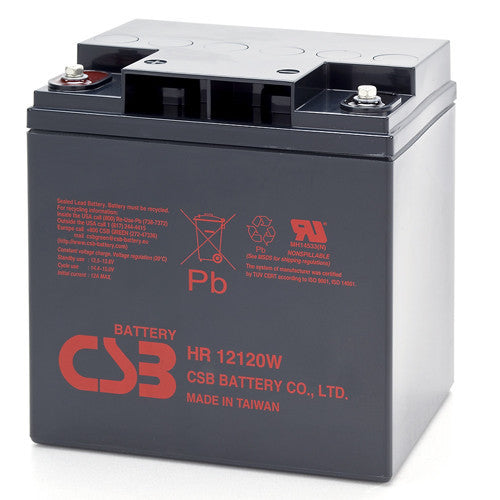 CSB HR12120WFR 12V 120W High Rate AGM Battery