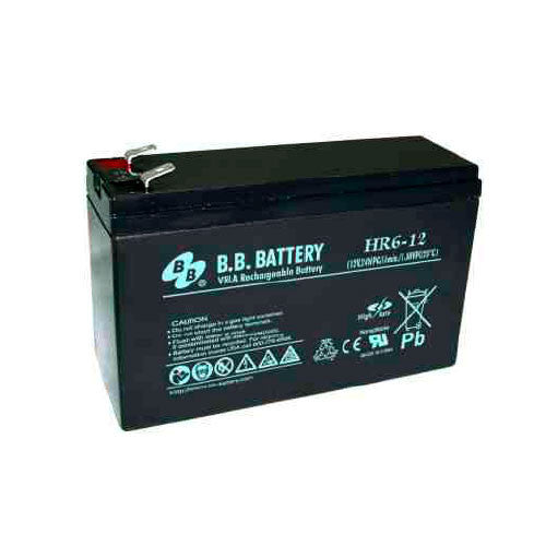 BB 12V/6Ah High Rate Sealed Lead Acid Battery w/ F2 Terminals