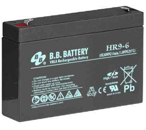 BB 6V/8Ah High Rate Sealed Lead Acid Battery w/ F2 Terminal