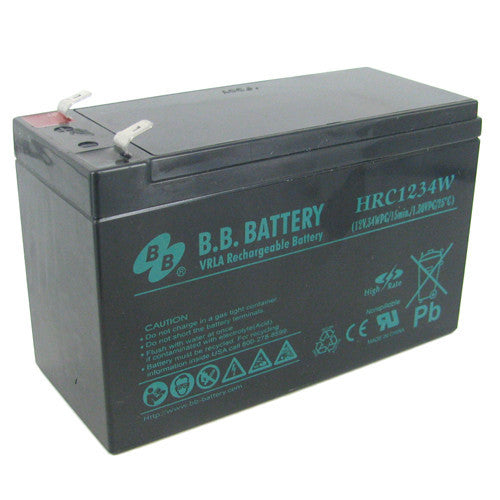 BB Battery 12V 34W/cell (15min) AGM Battery