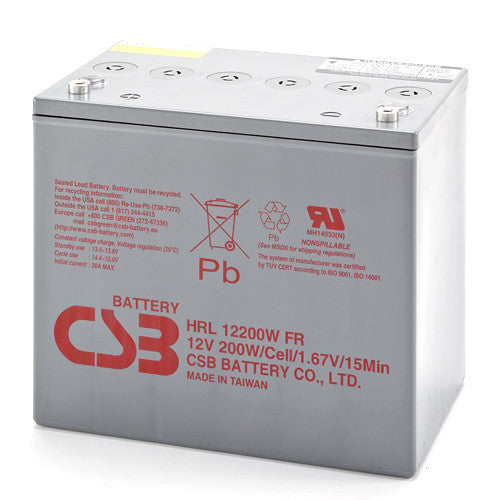 CSB HRL12200WFR 12V 200W High Rate Long Life Battery
