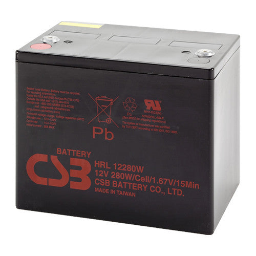 CSB HRL12280W 12V 280W High Rate Long Life Battery