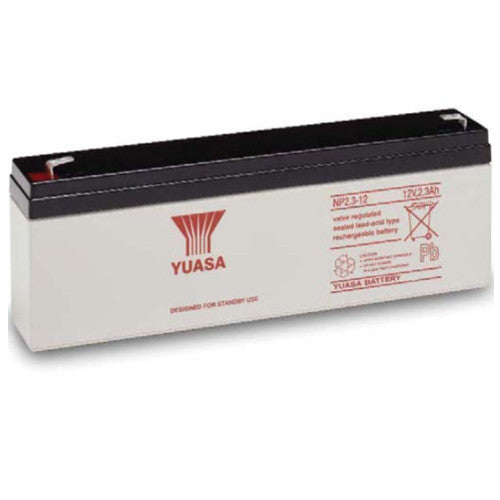Yuasa NP2.3-12FR 12V 2.3Ah Sealed Lead Acid Battery (Flame Retardant)