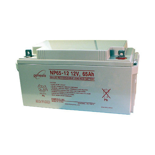 Genesis 12V/65AH Sealed Lead Acid Battery with NB Terminal FR