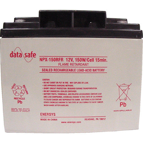 Data Safe NPX-150R 12V 150Watt Sealed Lead Acid Battery R Terminal