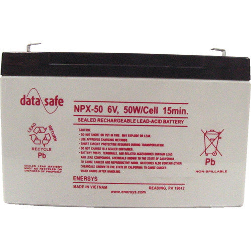 Data Safe NPX-50 FR: 6V/12.7Ah SLA Battery with F2 Terminal