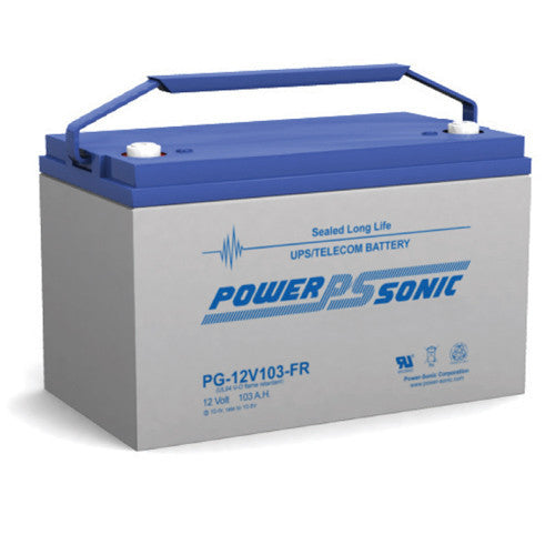 Power-Sonic PG-12V103FR, 12V 103Ah Sealed Lead Acid Battery