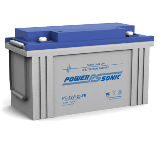 Power-Sonic PG-12V120FR, 12V 120Ah Sealed Lead Acid Battery