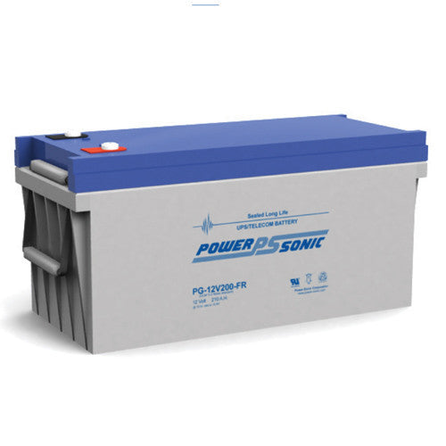 Power-Sonic PG-12V200FR, 12V 210Ah Sealed Lead Acid Battery
