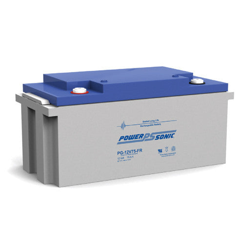 Power-Sonic PG-12V75FR, 12V 75Ah Sealed Lead Acid Battery