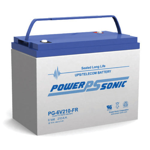 Power-Sonic PG-6V210FR, 6V 210Ah Sealed Lead Acid Battery