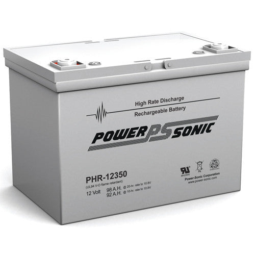 Power-Sonic PHR-12350, 12V 98Ah Sealed Lead Acid Battery