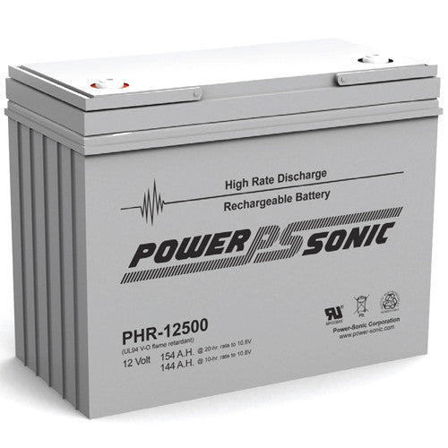 Power-Sonic PHR-12500, 12V 154Ah Sealed Lead Acid Battery