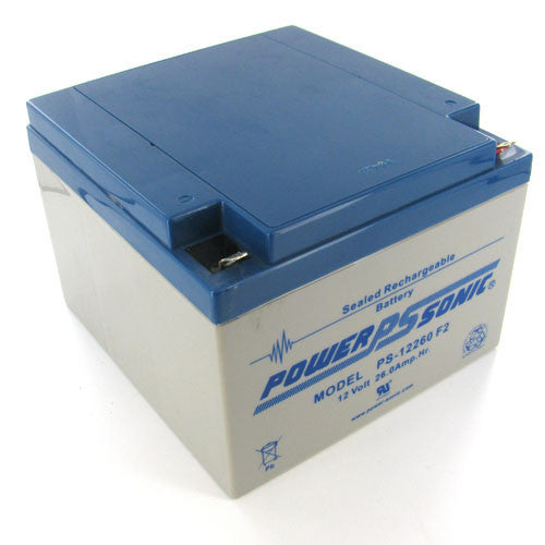 Power-Sonic PS-12260-F2, 12V 26Ah Sealed Lead Acid Battery
