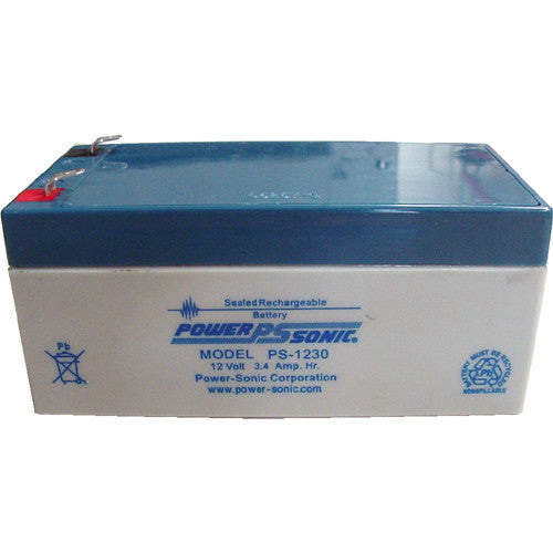 Power-Sonic PS-1230, 12V 3.4Ah Sealed Lead Acid Battery