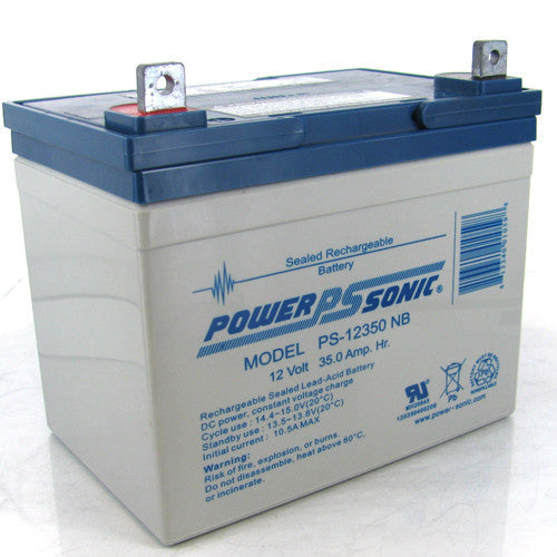 Power-Sonic 2 x 12V/35AH Sealed Lead Acid Battery w/ NB Terminal