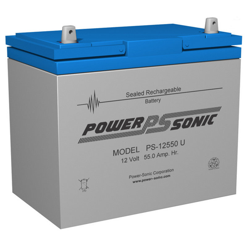 Power-Sonic PS-12550, 12V 55Ah Sealed Lead Acid Battery