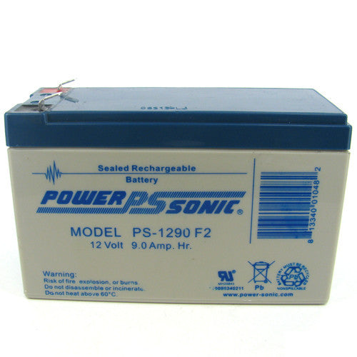 Power-Sonic PS-1290, 12V 9Ah Sealed Lead Acid Battery