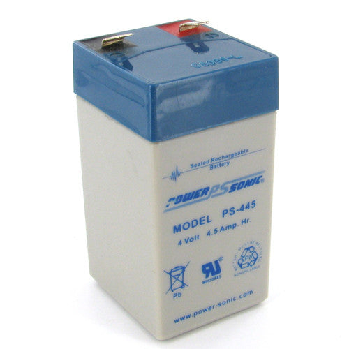 Power-Sonic PS-445, 4V 4.5Ah Sealed Lead Acid Battery