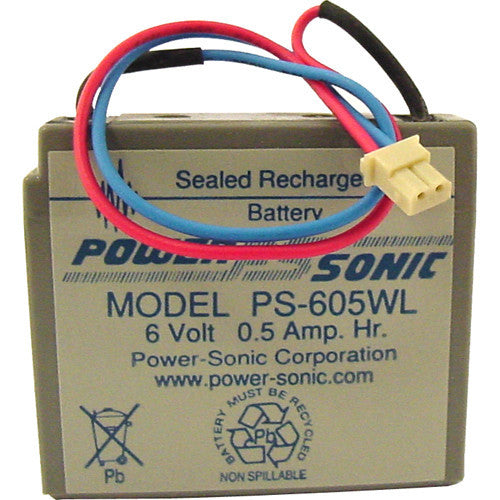 Power-Sonic PS-605, 6V 0.5Ah Sealed Lead Acid Battery