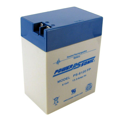 Power-Sonic PS-6120-FP, 6V 13Ah Sealed Lead Acid Battery