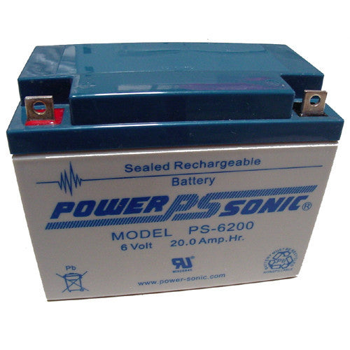 Power-Sonic PS-6200, 6V 20Ah Sealed Lead Acid Battery