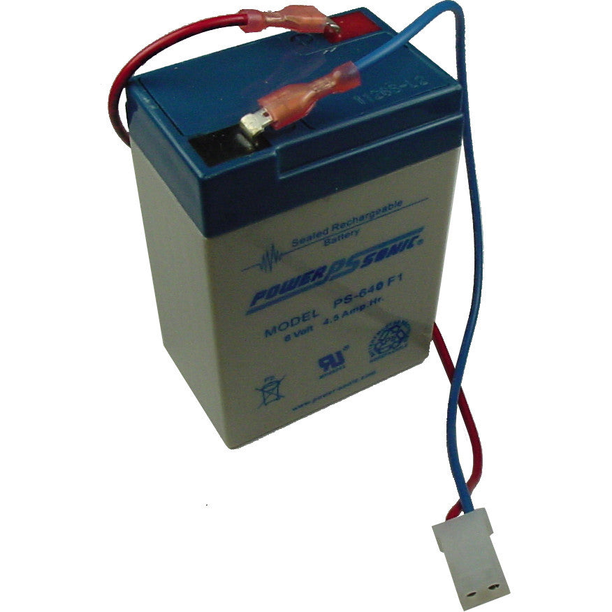 Power-Sonic PS-640-WL, 6V 4.5Ah Sealed Lead Acid Battery