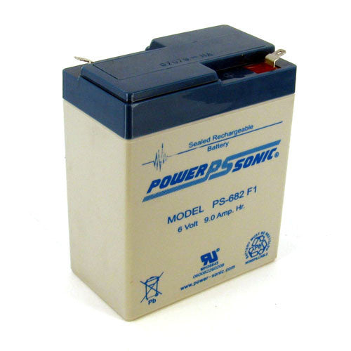 6V 9Ah Home Alarm Battery by Power-Sonic