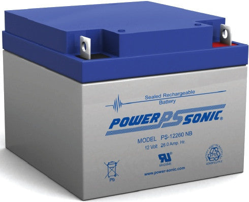 Power-Sonic PS-12260-NB, 12V 26Ah Sealed Lead Acid Battery