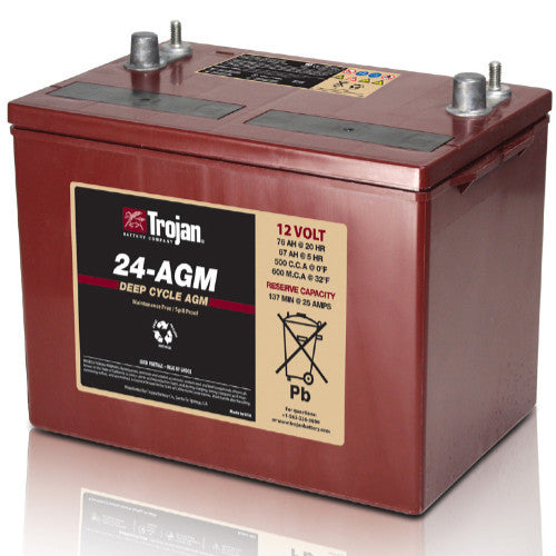 Trojan T24-AGM Dual Purpose VLRA AGM Battery