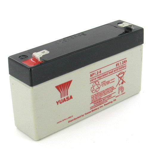 Yuasa NP1.2-6 6V 1.2Ah Sealed Lead Acid Battery