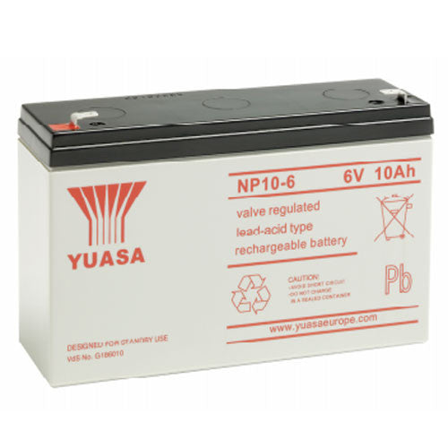Yuasa NP10-6 6V 10Ah Sealed Lead Acid Battery