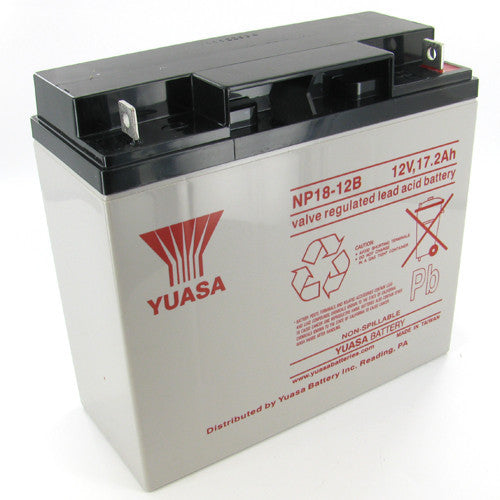 Yuasa NP18-12B 12V 17.2Ah Sealed Lead Acid Battery