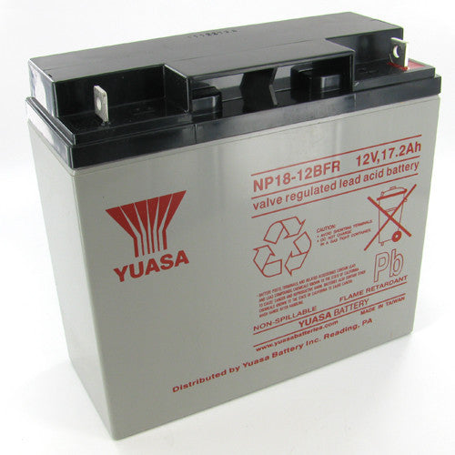 Yuasa NP18-12BFR 12V 17.2Ah Sealed Lead Acid Battery (Flame Retardant)