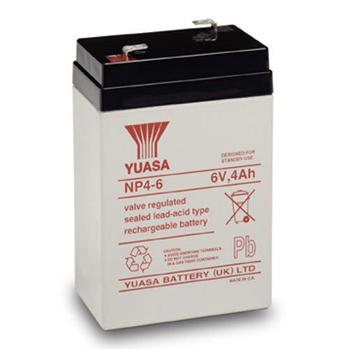 Yuasa NP4-6 6V 4Ah Sealed Lead Acid Battery