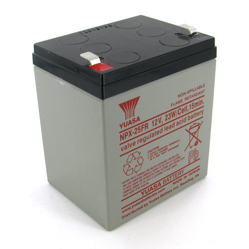 Yuasa NPX-25FRF2 12V 5Ah High Rate AGM Battery (Flame Retardant)