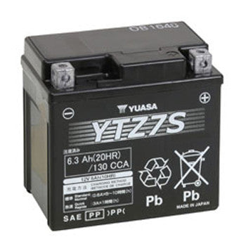 Yuasa YTZ7S 6Ah 130 CCA Maintenance-Free PowerSports Battery