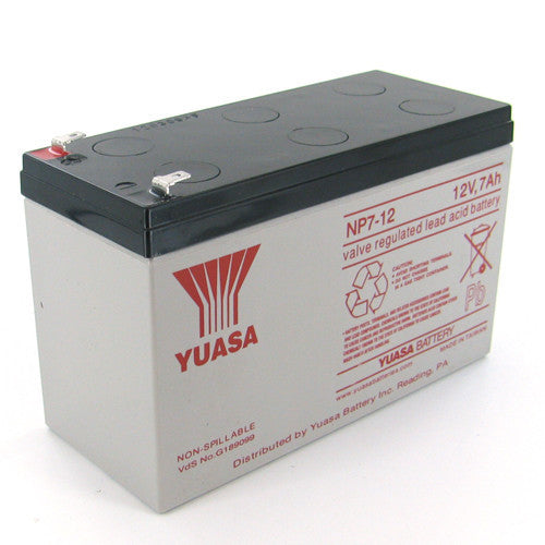 Yuasa NP7-12F2 12V 7Ah Sealed Lead Acid Battery