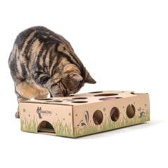 Cat Playing with Cat Amazing Interactive Puzzle Feeder