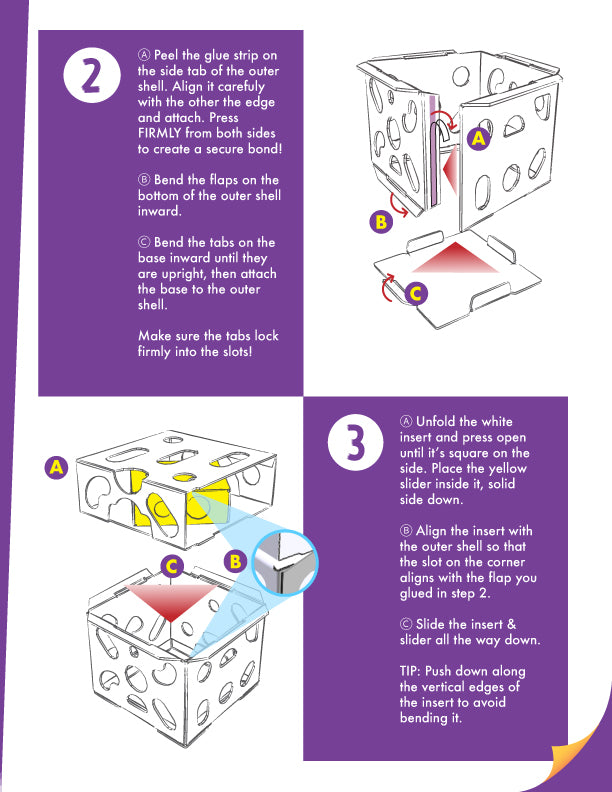 Cat Amazing Sliders Interactive Cat Treat Puzzle Assembly instructions Page 2