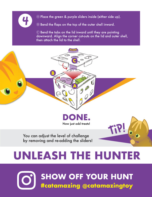 Cat Amazing Sliders Interactive Cat Treat Puzzle Assembly instructions Page 3