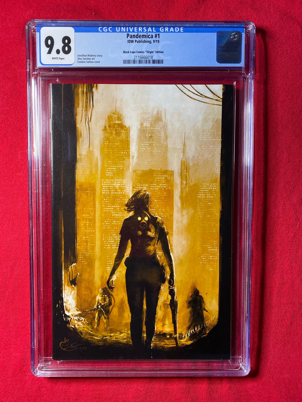 Pandemica 1 Black Cape Comics Virgin Variant CGC 9.8