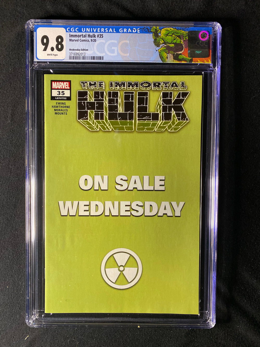 immortal Hulk 35 Wednesday Variant CGC 9.8