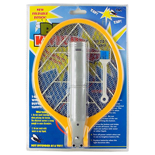 BugKwikZap Foldable Bug Zapper Electric Fly Swatter (Battery Operated),  1 Pack