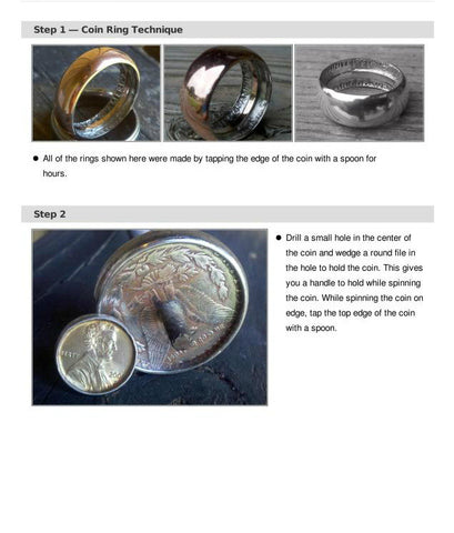 HOW TO MAKE A RING FROM COINS (1)