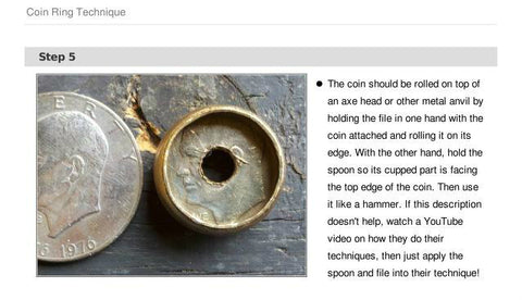 HOW TO MAKE A RING FROM COINS (3)