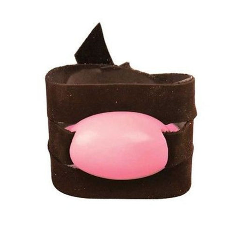Tagua and Leather Wrap Bracelet - Pink Grapefruit
