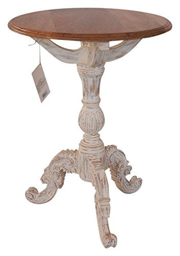 the urban port upt32760 antique colonial designer round table with carved legs - Utility Table