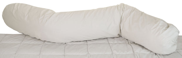 Bean Products Sleeping Bean Staph Check Body Pillow - Natural Linens